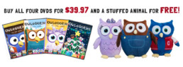 Owlegories Christmas Sale! - Buy all four and get a FREE Stuffed Animal!